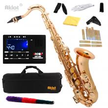 Aklot Bb Tenor Saxophone Sax Gold Lacquered with...