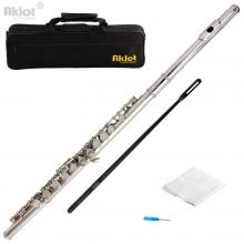 Aklot C Flute Cupronickel Nickel Plated for Stud...