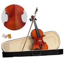 Vioin 4/4 Full Size Acoustic Fiddle Musical Instruments with Case Bow Rosin Solid Maple Wood