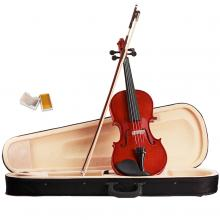 Violin 4/4 Full Size Natural Acoustic Fiddle wit...