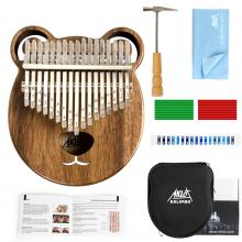 Kalimba 17 Keys Thumb Piano Solid Wood Finger Pi...